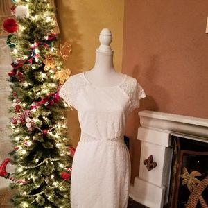 White Lace Dress Juniors Sz 11